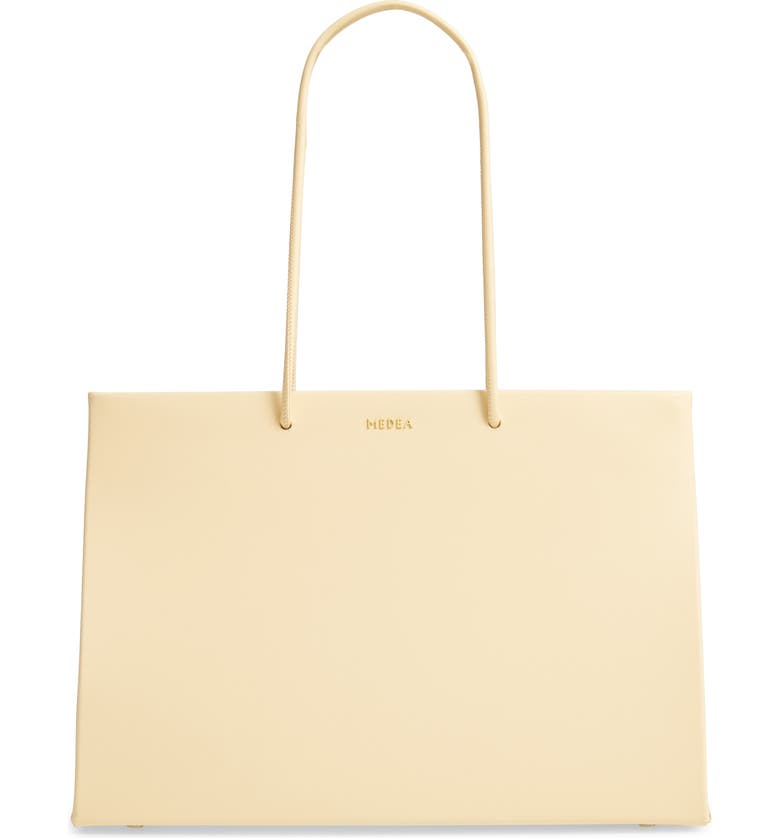 MEDEA Dieci Calfskin Leather Tote, Main, color, APRICOT