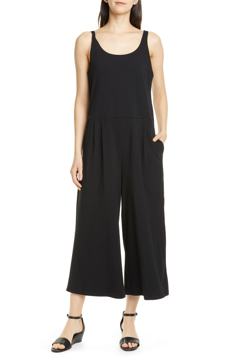 EILEEN FISHER Camisole Wide Leg Jumpsuit, Main, color, 001