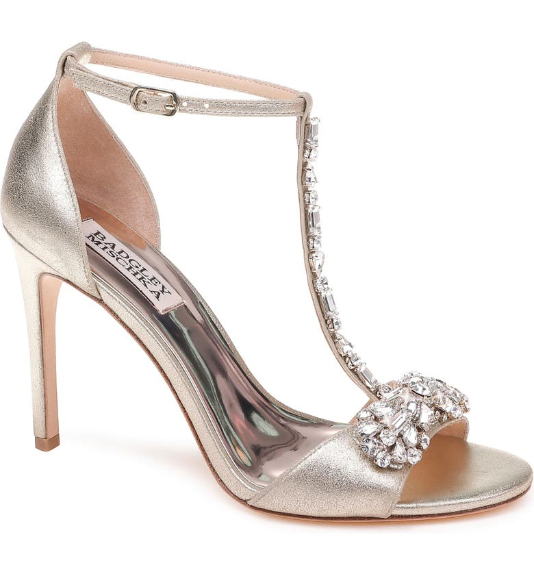 BADGLEY MISCHKA COLLECTION Badgley Mischka Pascale T-Strap Sandal, Main, color, 040