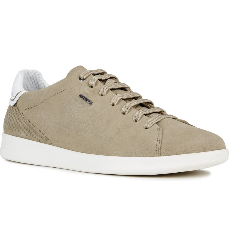 GEOX Kennet Tennis Sneaker, Main, color, LIGHT OLIVE SUEDE