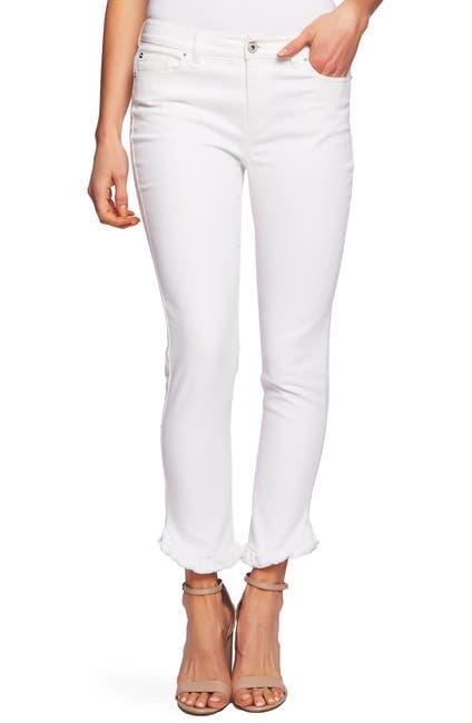 Image of CeCe by Cynthia Steffe Ruffle Hem Straight Leg Jeans