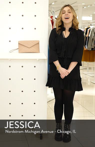Leo Quilted Leather Clutch, sales video thumbnail