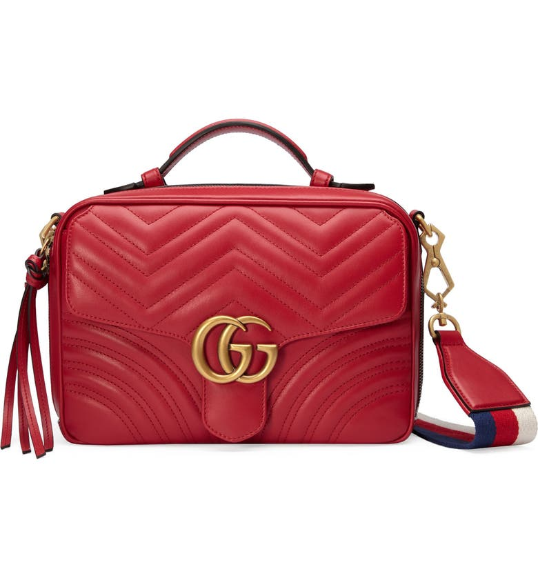 6f9224c9b Small GG Marmont 2.0 Matelassé Leather Camera Bag with Webbed Strap, Main,  color,