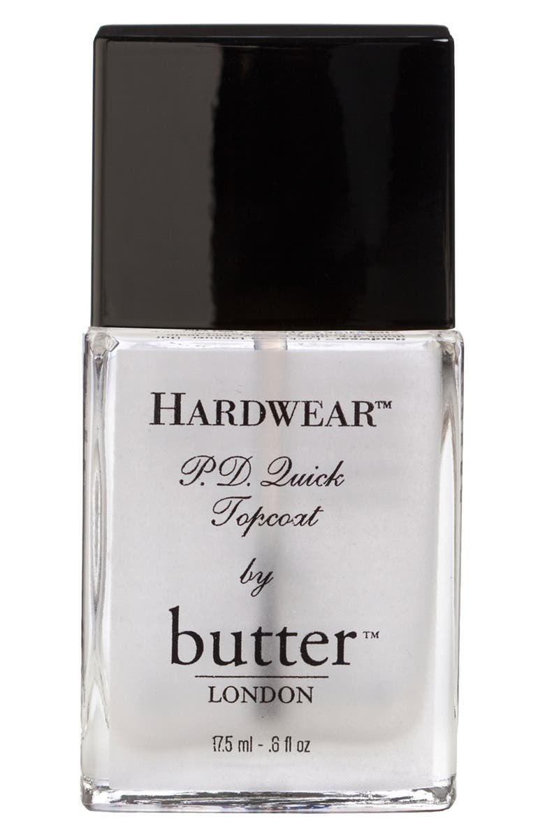 BUTTER LONDON 'Hardwear<sup>™</sup> P.D. Quick' Topcoat, Main, color, 000