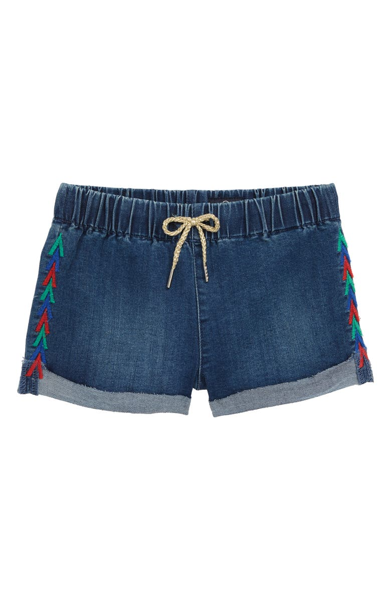 AG The Nellie Embroidered Pull-On Denim Shorts, Main, color, 400