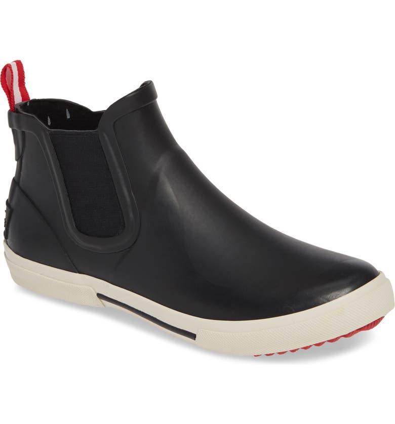 JOULES Rainwell Waterproof Chelsea Rain Boot, Main, color, BLACK