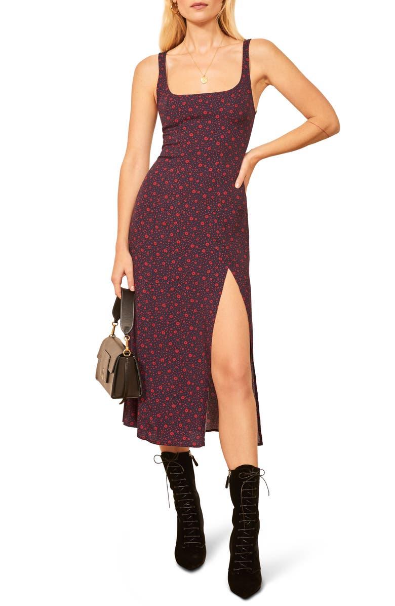 REFORMATION Gilmore Sleeveless Midi Dress, Main, color, 400