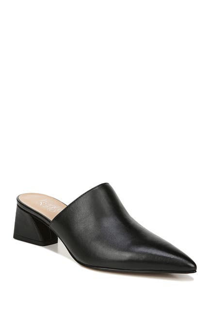 Image of Franco Sarto Rianan Leather Block Heel Mule
