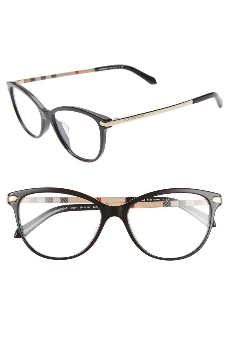 BURBERRY 54mm Optical Glasses, Main, color, 001