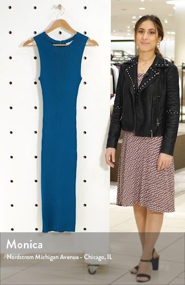 Ribbed Sleeveless Sweater Dress, sales video thumbnail