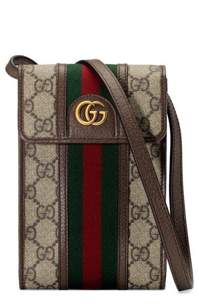 Gucci MINI OPHIDIA GG SUPREME CANVAS MESSENGER BAG