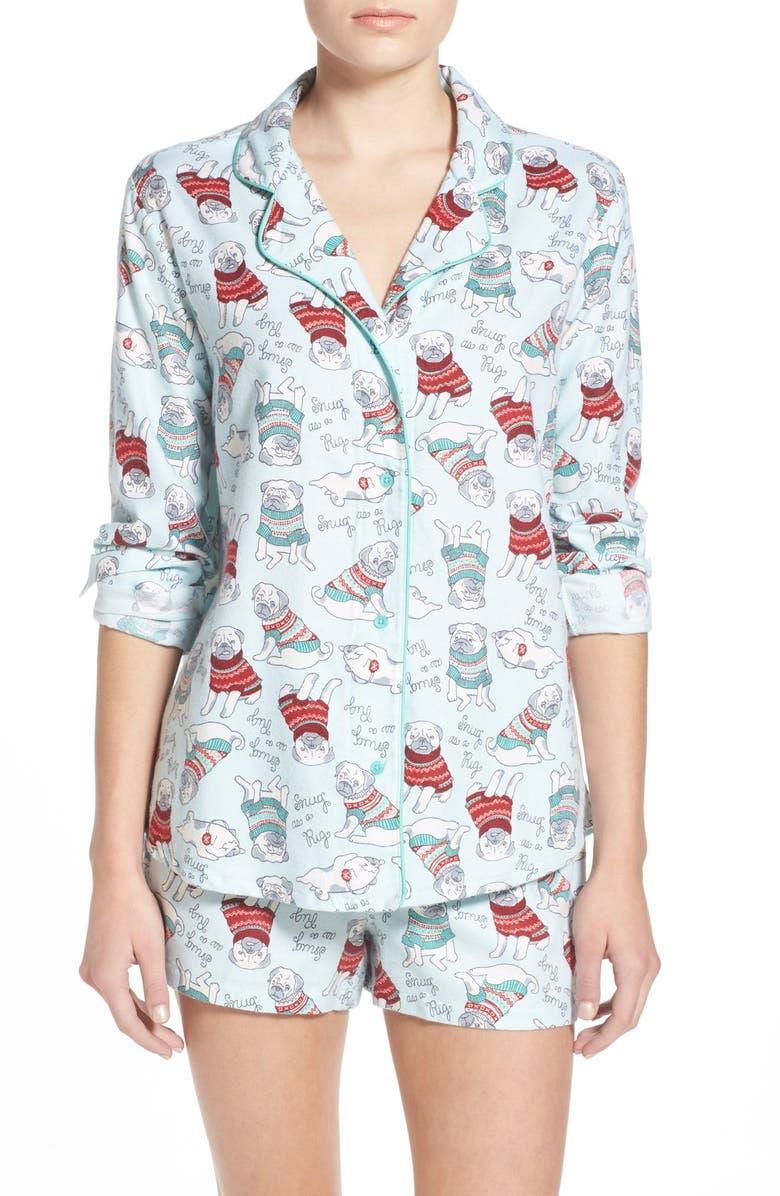 BP. UNDERCOVER Print Short Pajamas, Main, color, 450