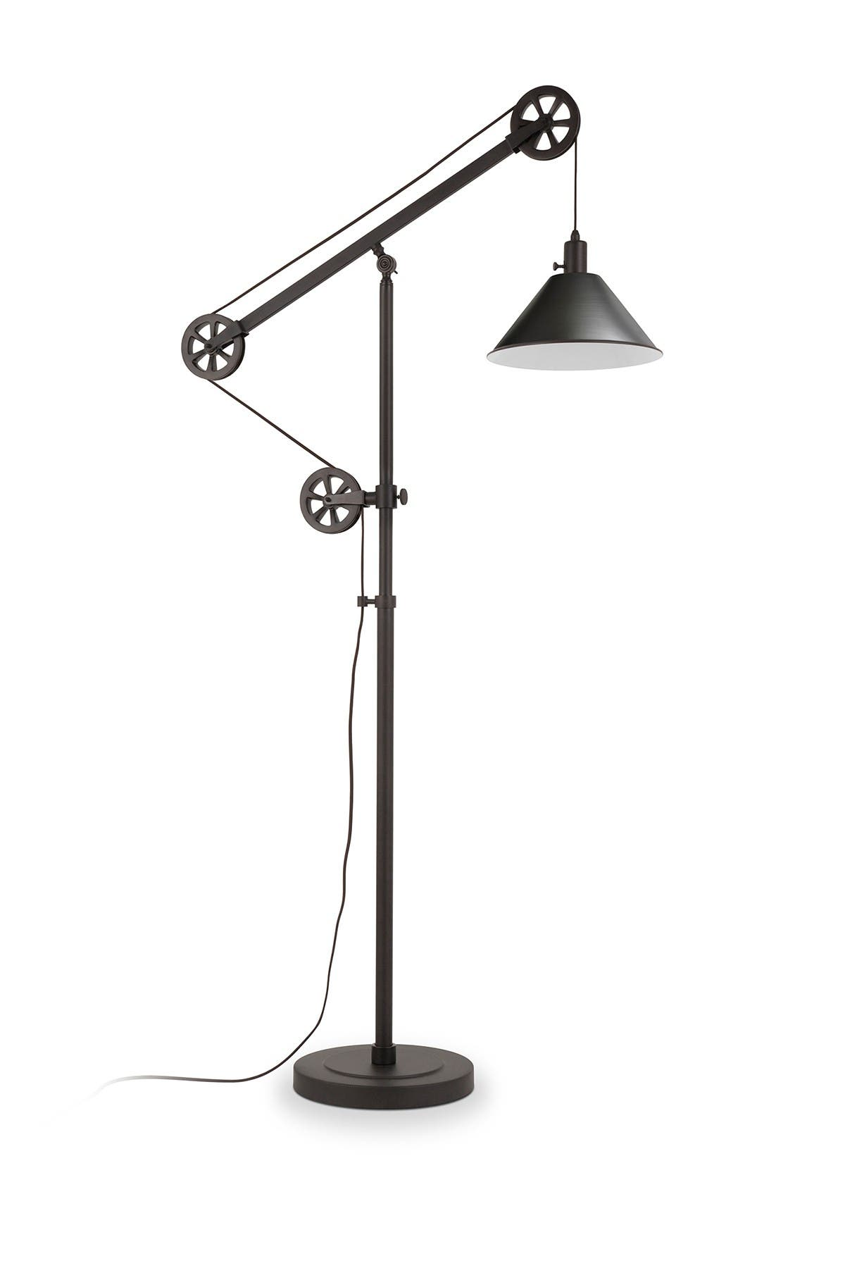 Image of Addison and Lane Descartes Floor Lamp - Blackened Bronze