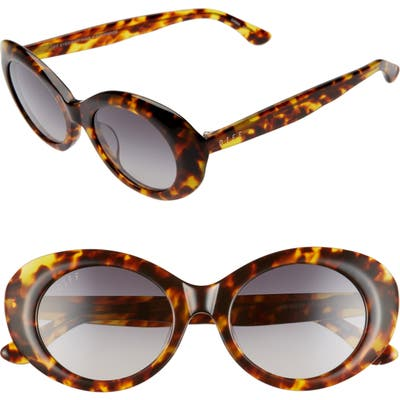 Diff Olivia 50Mm Oval Sunglasses - Amber Tortoise/ Grey