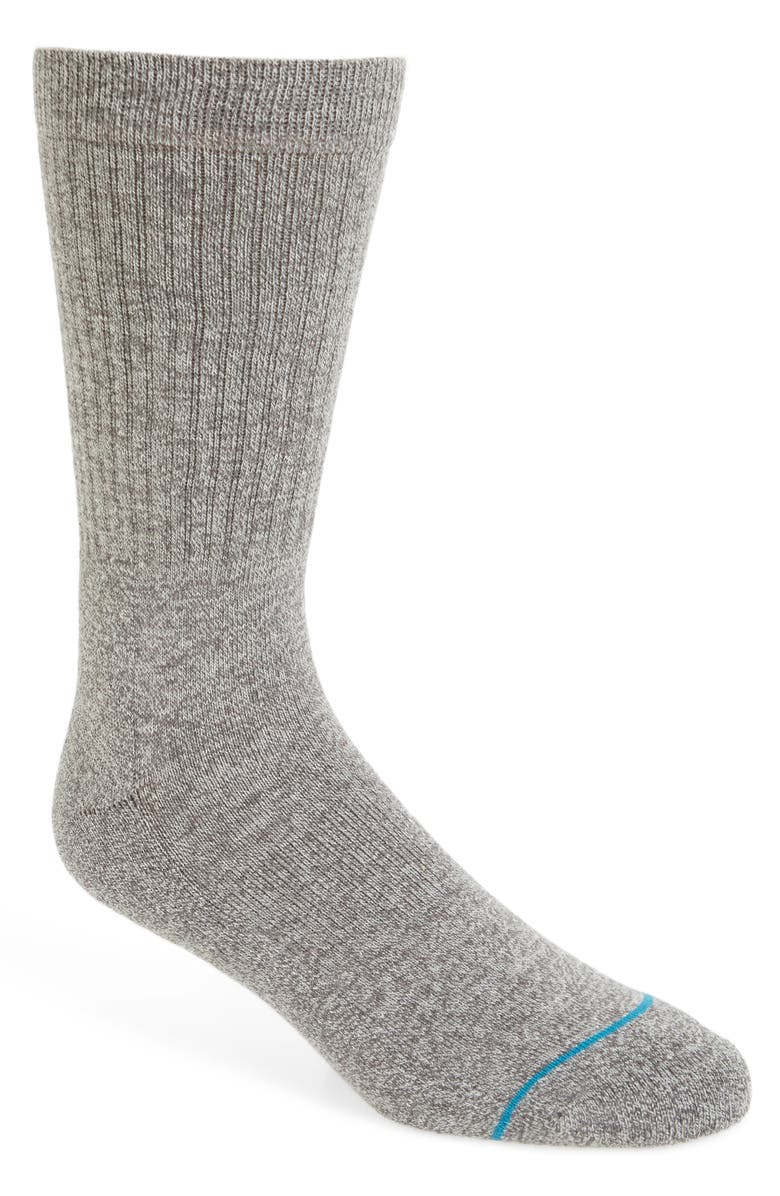 STANCE 'Icon' Athletic Socks, Main, color, GREY HEATH