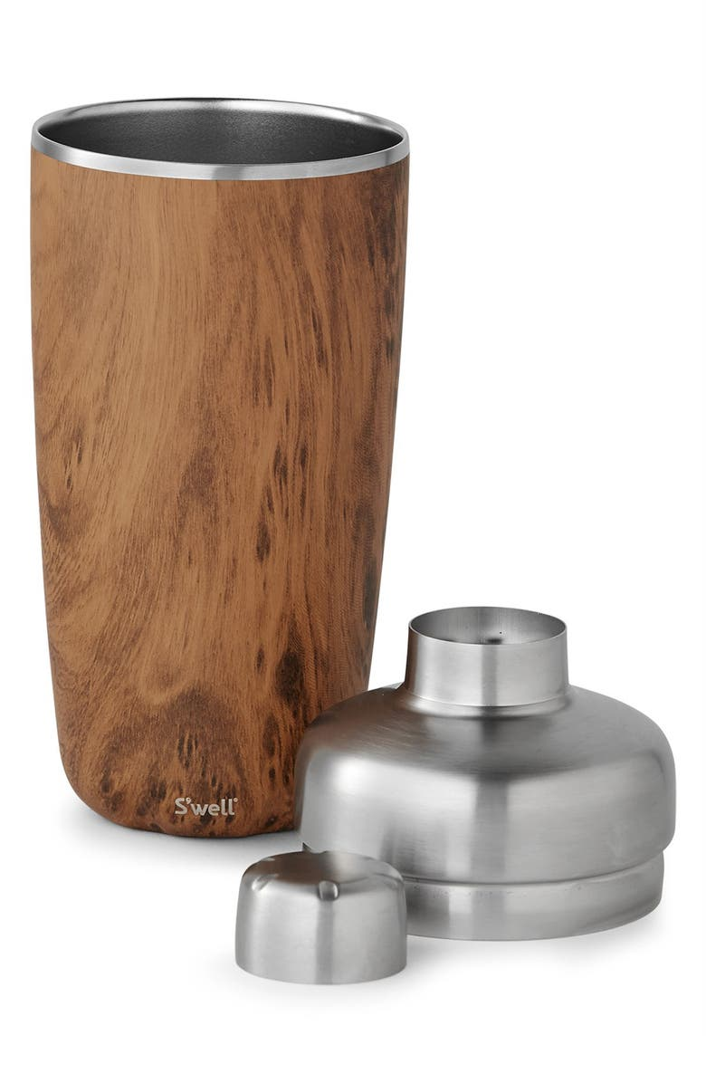 S'WELL Teakwood 18 Ounce Cocktail Shaker Set, Main, color, 200