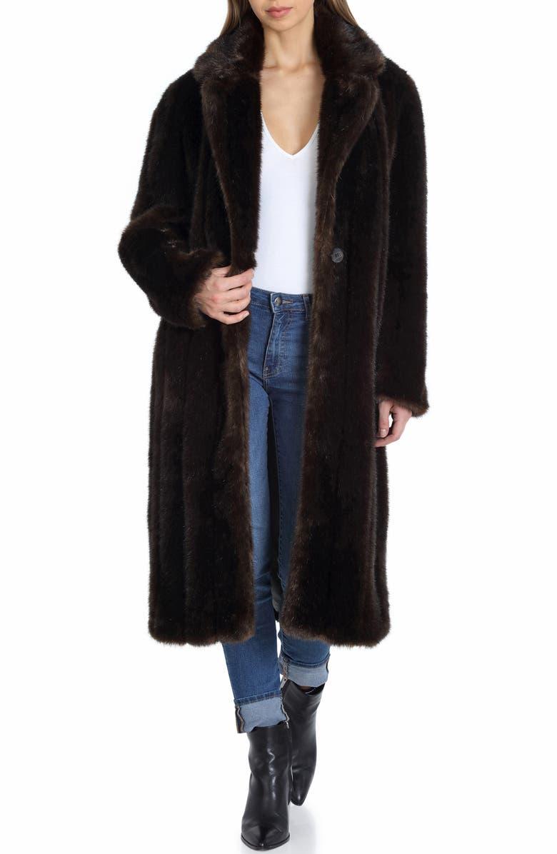 AVEC LES FILLES Faux Fur Walker Coat, Main, color, 203