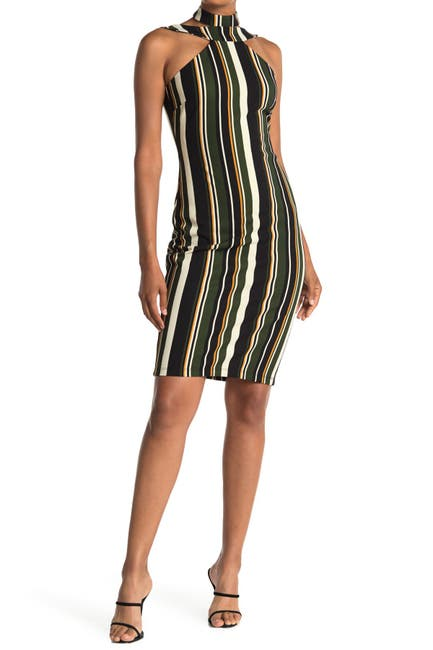 Image of bebe Body Con Halter Dress