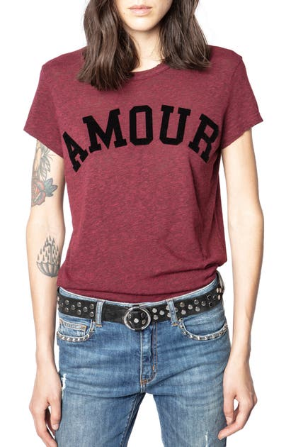 Zadig & Voltaire WALK CHINE AMOUR T-SHIRT