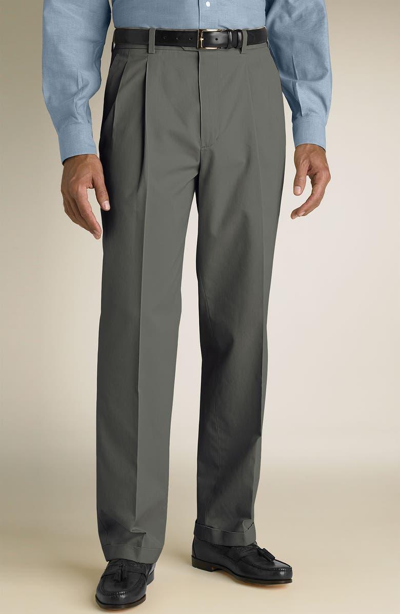 b2c53aeb63a9b8 John W. Nordstrom® Smartcare™ Double Pleat Supima® Cotton Pants ...