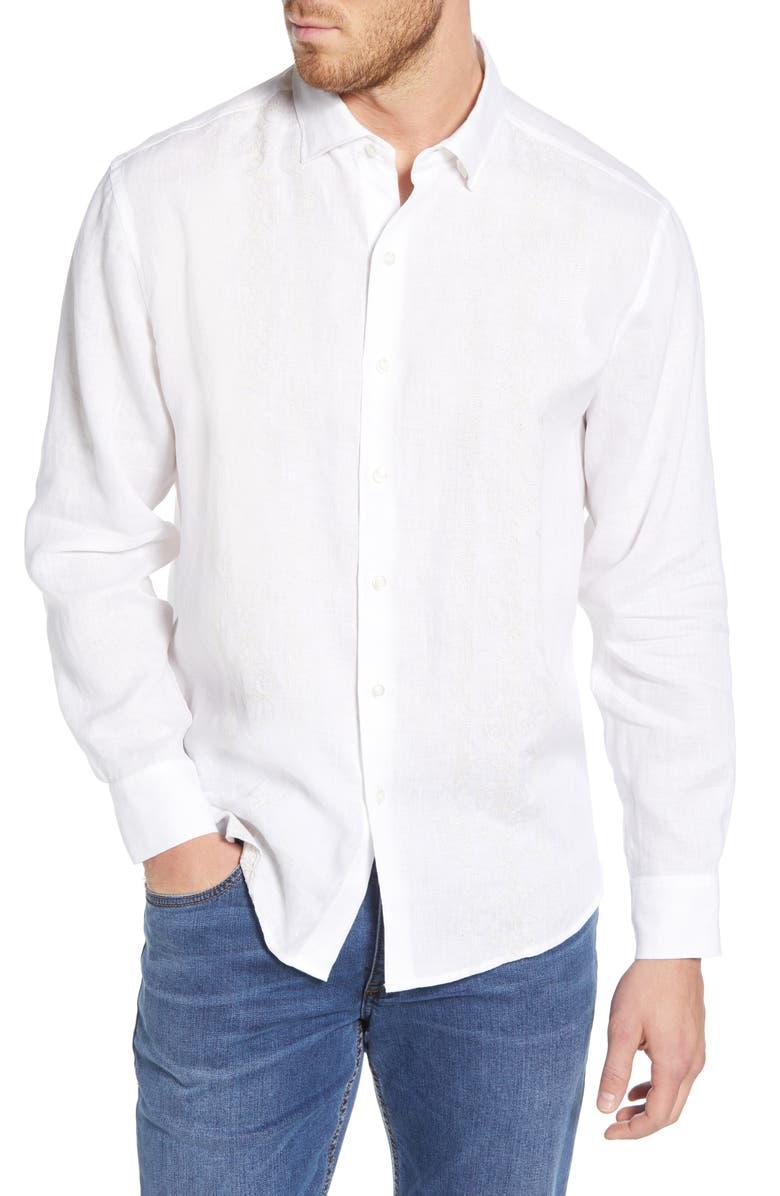 TOMMY BAHAMA Verona Vines Shirt, Main, color, WHITE