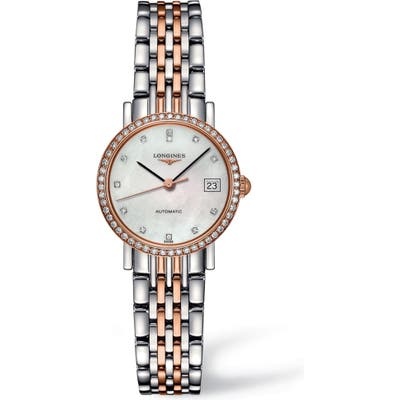 Longines Elegant Automatic Diamond Bracelet Watch, 25.5 mm