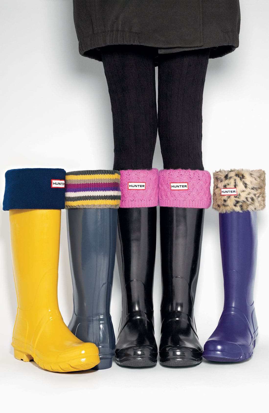 ,                             Tall Stripe Cuff Welly Socks,                             Main thumbnail 1, color,                             016