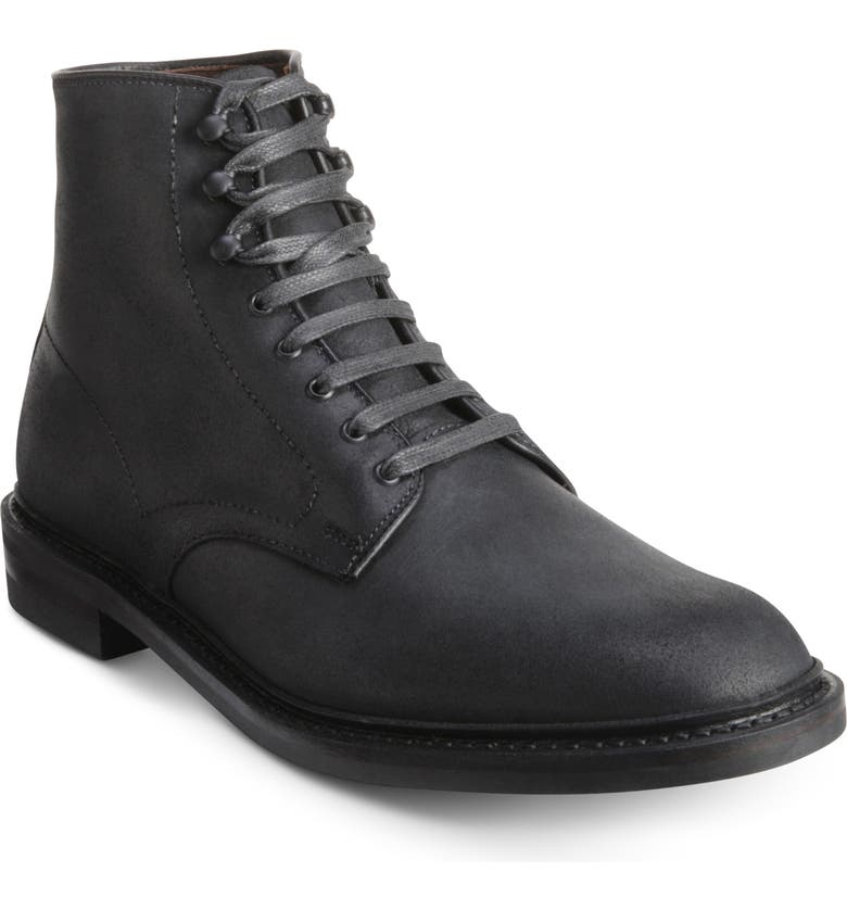 ALLEN EDMONDS Higgins Mill Plain Toe Boot, Main, color, BLACK LEATHER