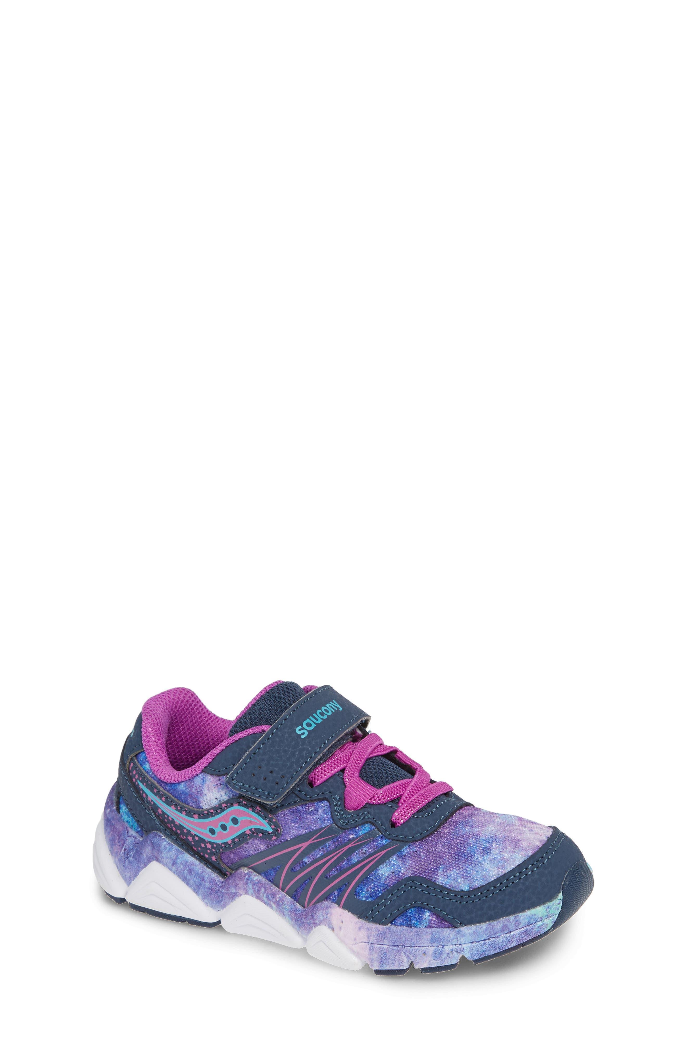 Boys Saucony Kotaro Flash Sneaker Size 2 W  Purple