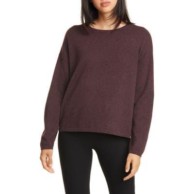 Eileen Fisher Crewneck Merino Wool Top, Purple