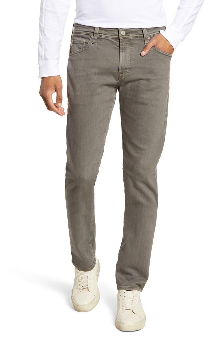 AG Tellis Slim Fit Jeans, Main, color, 7 YEARS GRIM TA