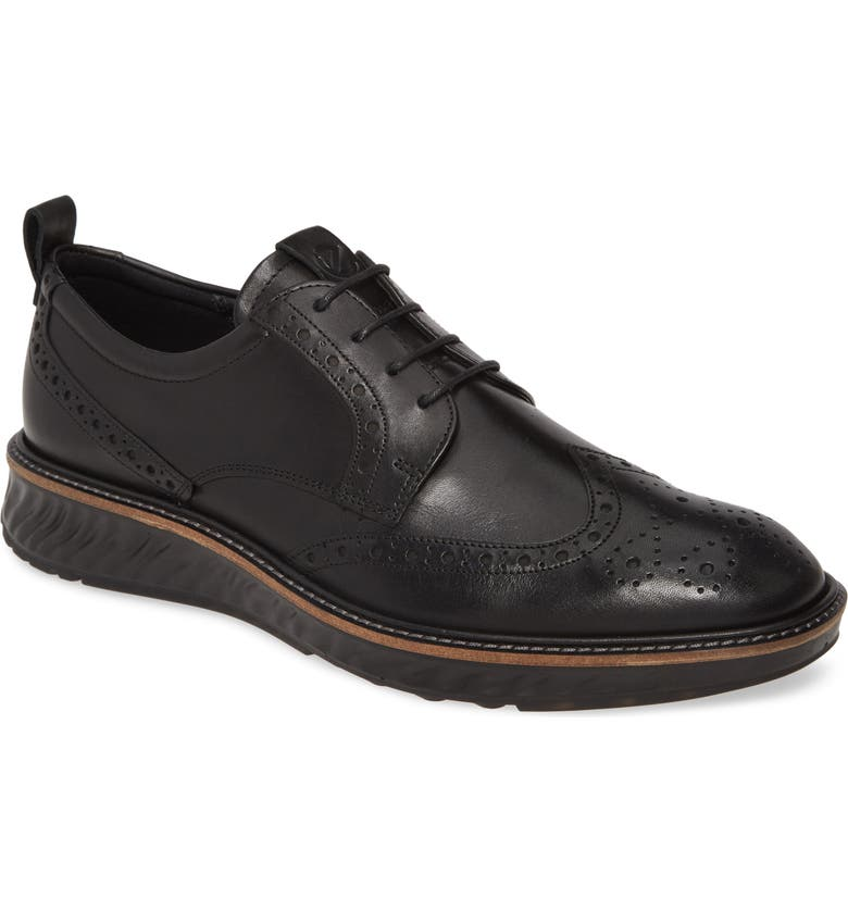 ECCO ST1 Hybrid Wingtip, Main, color, BLACK LEATHER