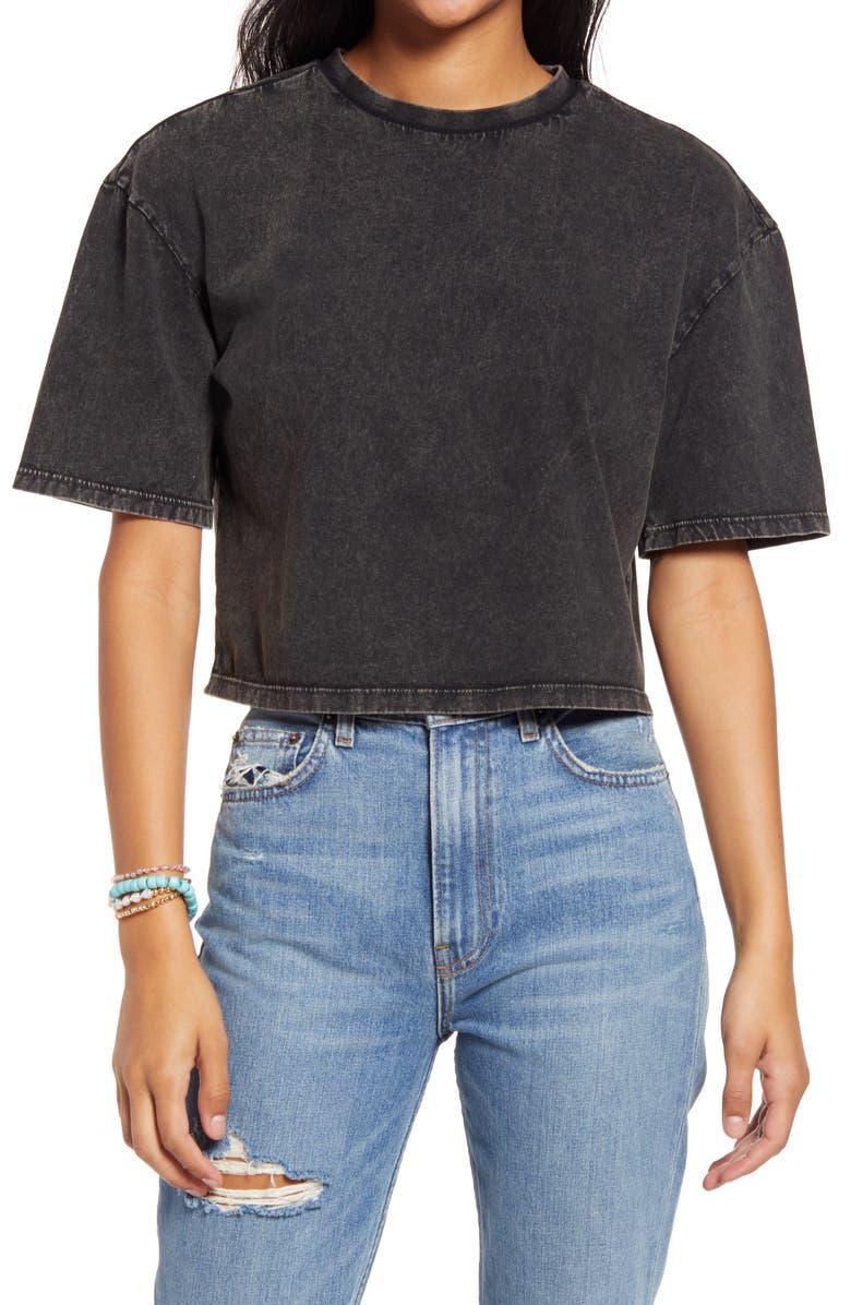 BP. Cool Girl Crop T-Shirt, Main, color, BLACK