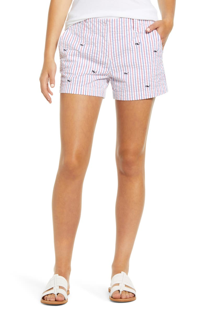 VINEYARD VINES Firework Seersucker Shorts, Main, color, 634