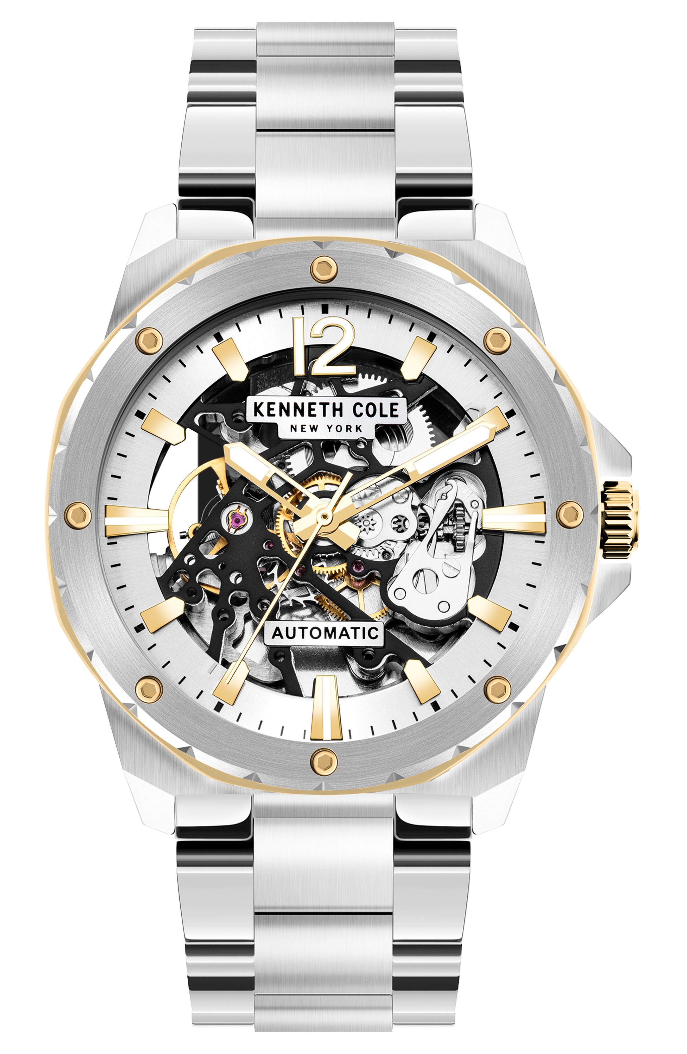 Skeletal Automatic Bracelet Watch