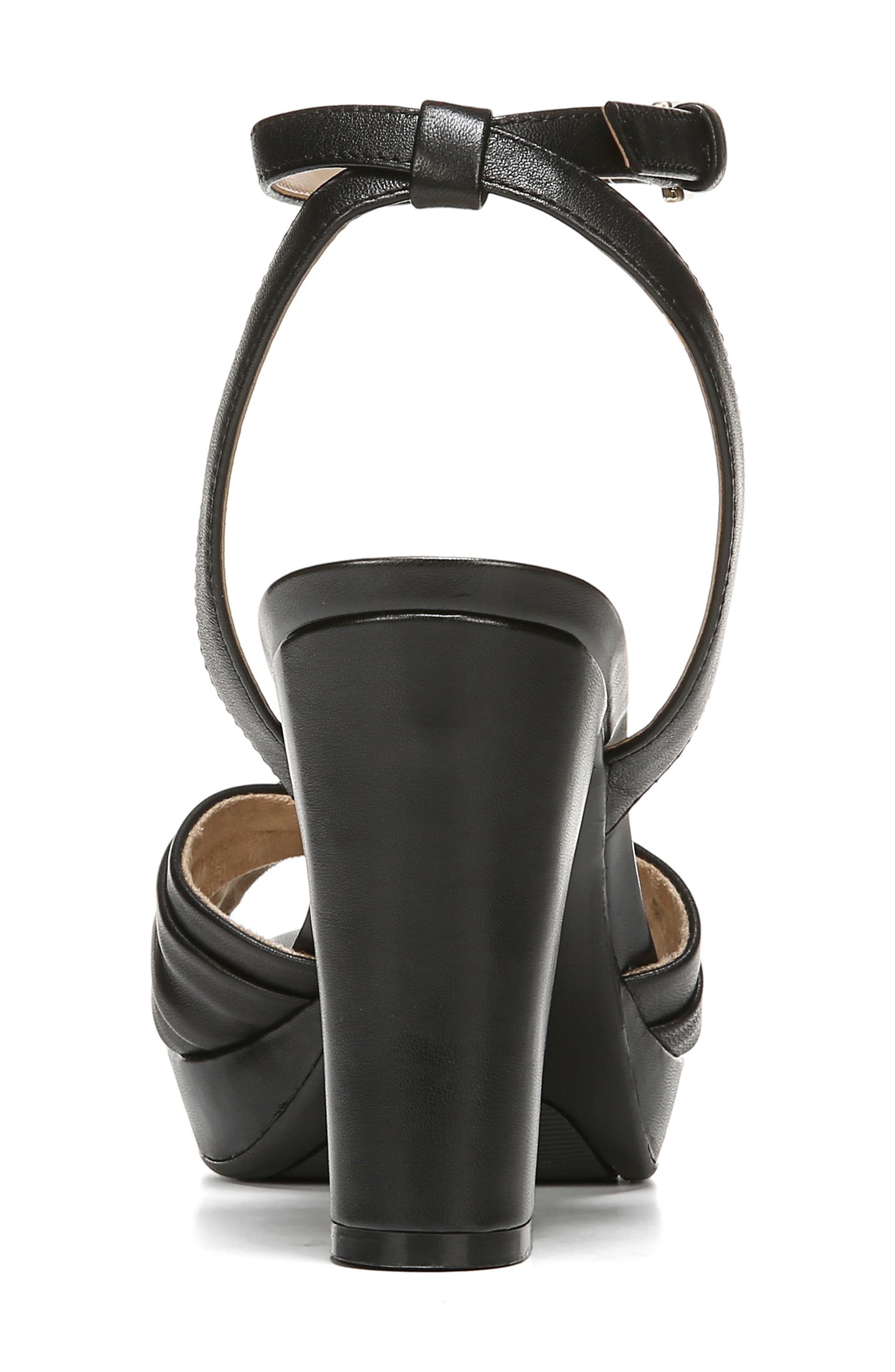 ,                             Avril Ankle Strap Sandal,                             Alternate thumbnail 7, color,                             BLACK LEATHER