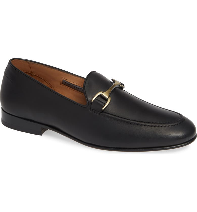 VINCE CAMUTO 'Borcelo' Bit Loafer, Main, color, BLACK/BLACK LEATHER