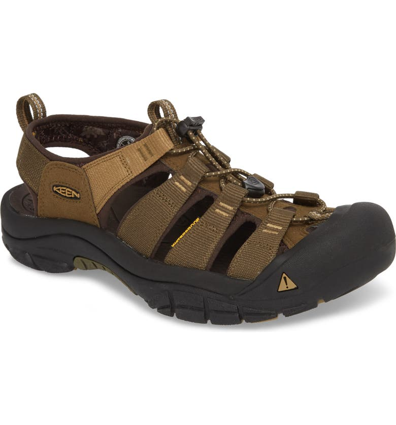 KEEN Newport Hydro Sandal, Main, color, DARK OLIVE/ANTIQUE BRONZE
