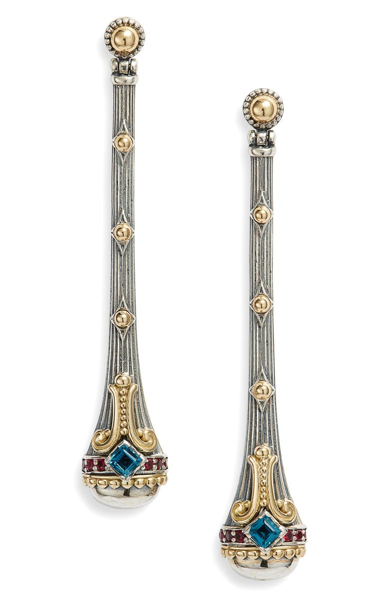 KONSTANTINO Delos Linear Earrings, Main, color, BLUE TO PAZ
