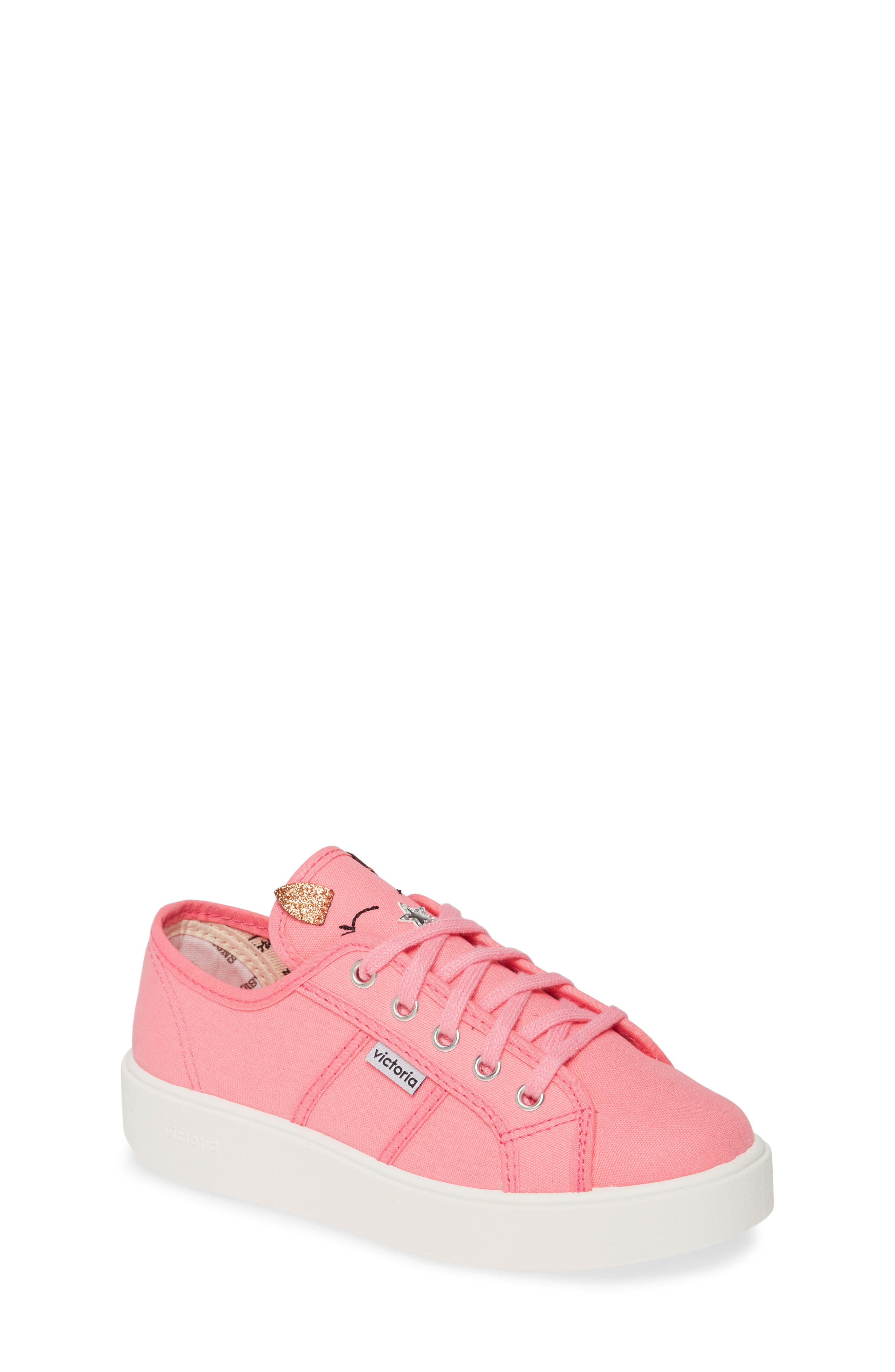 Toddler Girls Victoria Shoes Utopia Lona Animales Sneaker Size 115US  29EU  Pink