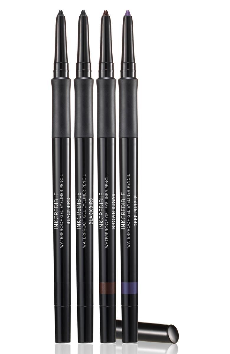 LAURA GELLER BEAUTY Full Size INKcredible Waterproof Gel Eyeliner Pencils, Main, color, 000