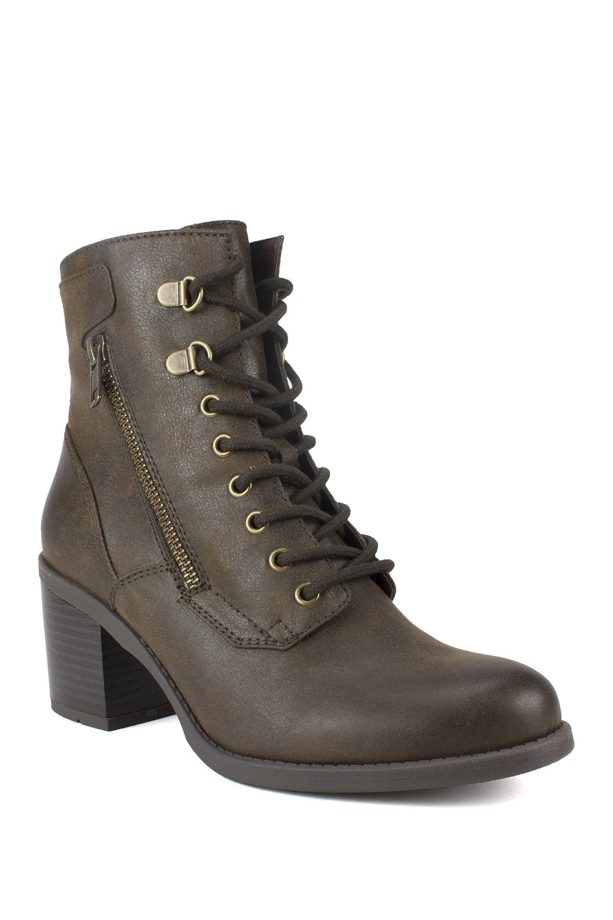 Dorian Lace-Up Faux Leather Boot