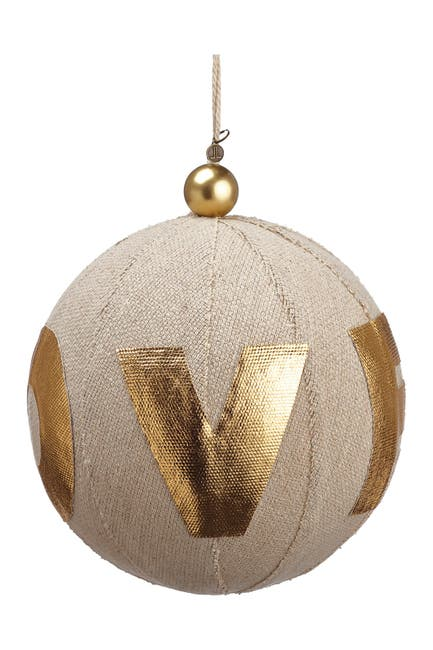 "Image of ALLSTATE 8"" Linen Love Ball Ornament"