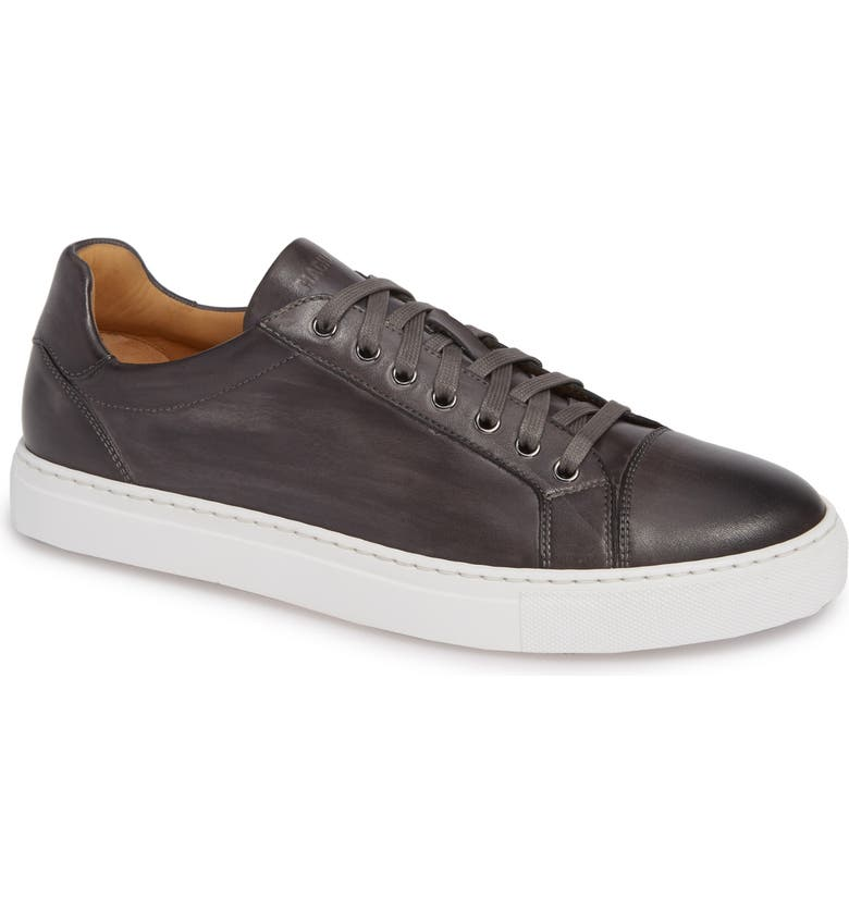 MAGNANNI Jackson Sneaker, Main, color, GREY LEATHER