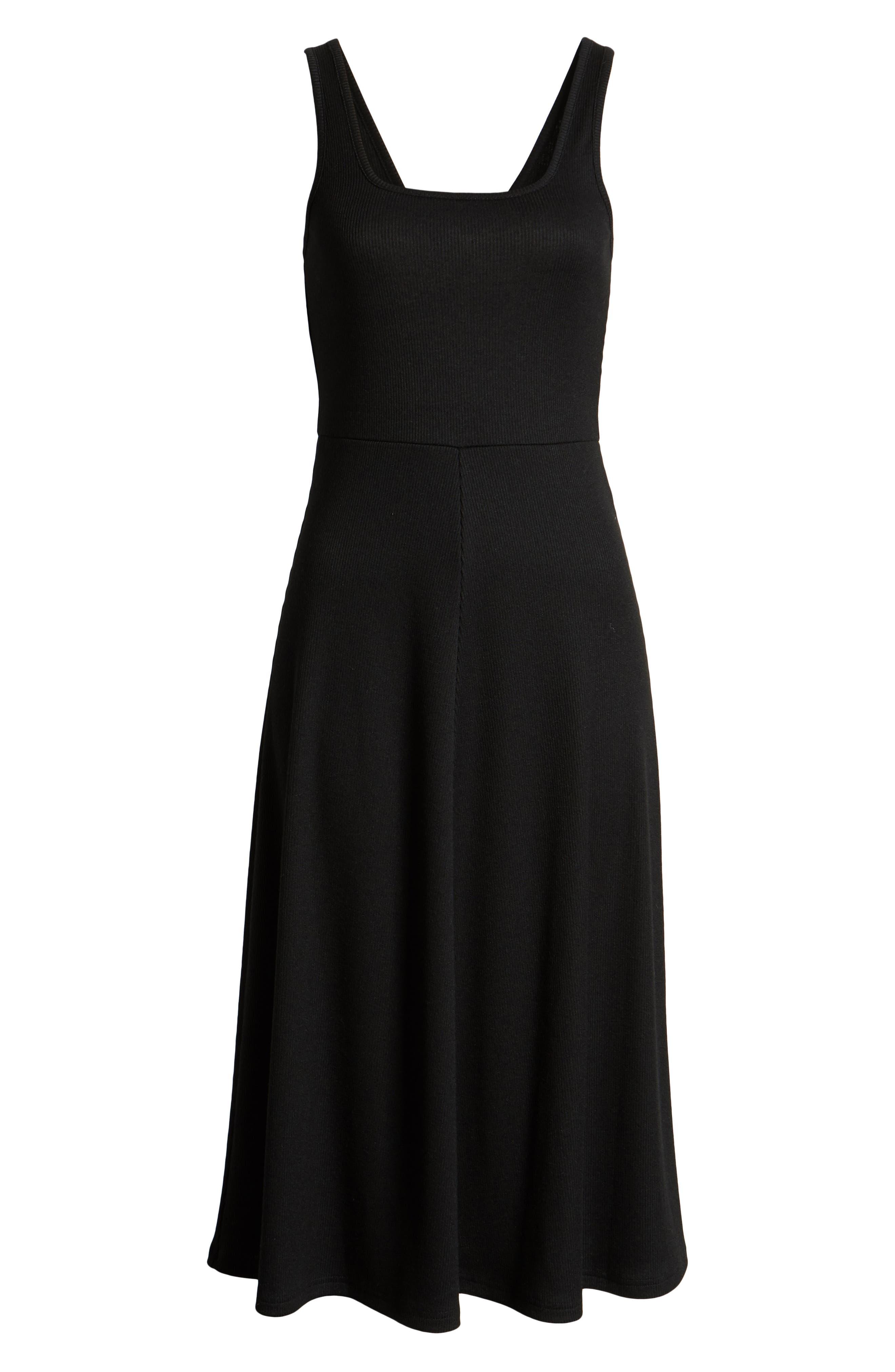 ,                             A-Line Tank Dress,                             Alternate thumbnail 7, color,                             BLACK