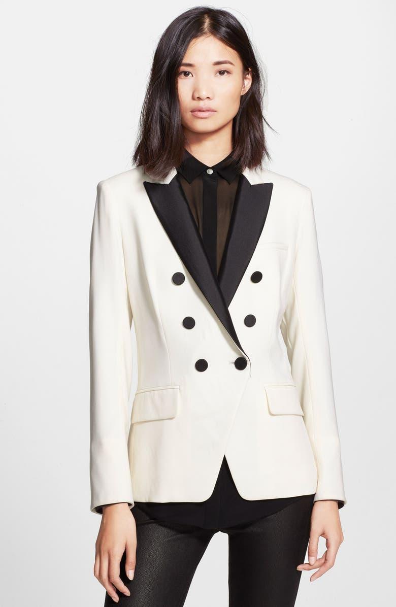 VERONICA BEARD Piqué Suiting Jacket, Main, color, 100