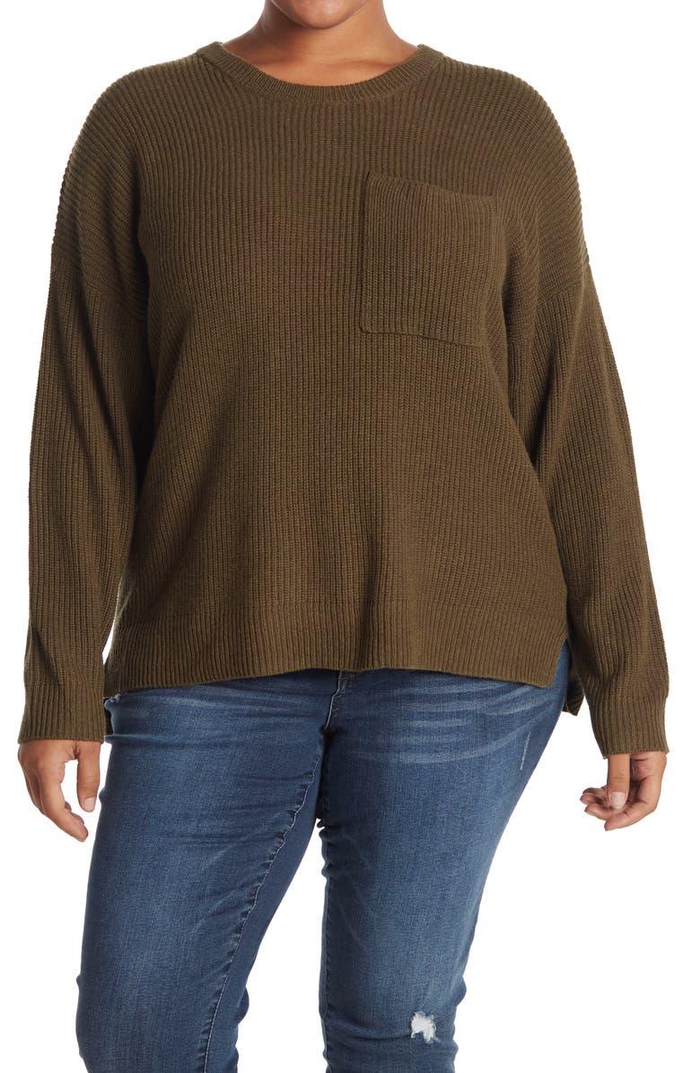 MADEWELL Thompson Pocket Pullover Sweater, Main, color, HTHR ELM