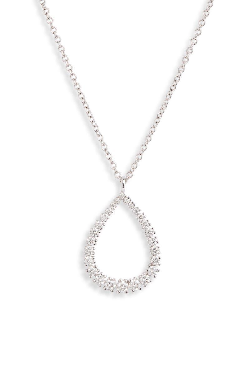 BONY LEVY Liora Graduated Diamond Pear Pendant Necklace, Main, color, DIAMOND/ WHITE GOLD