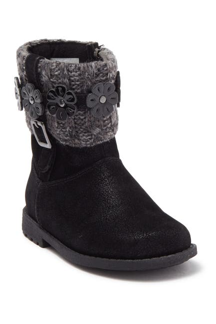 Image of Rachel Shoes Flower Knit Cuff Boot