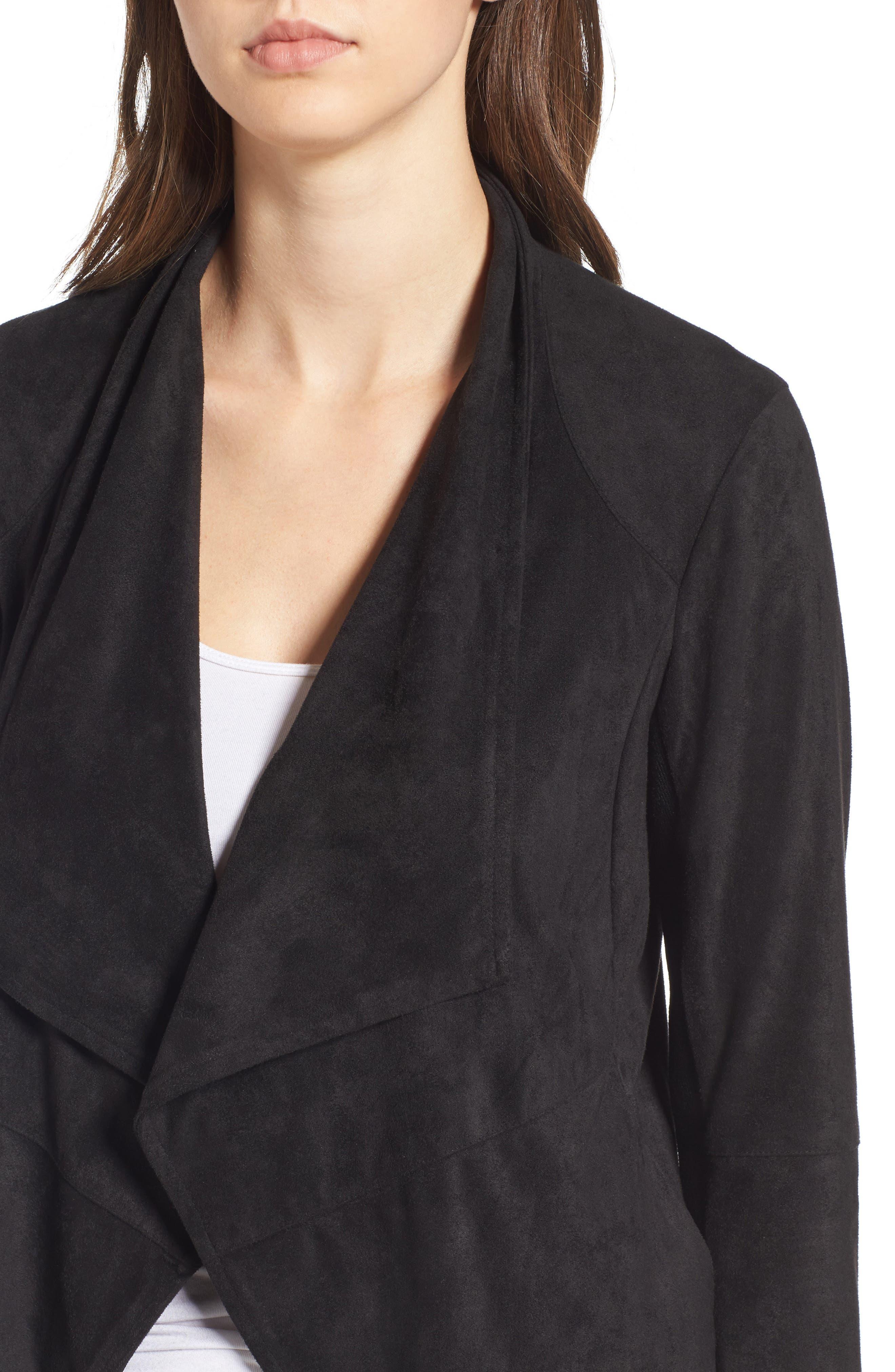,                             Nicholson Faux Suede Drape Front Jacket,                             Alternate thumbnail 73, color,                             002
